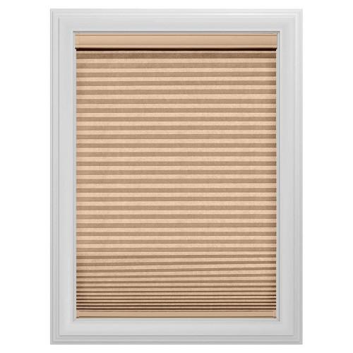 "Cordless Light Filtering Cellular Shade Slotted Window Blind Latte 59""x48"" - Bali Essentials - Tan, Beige"