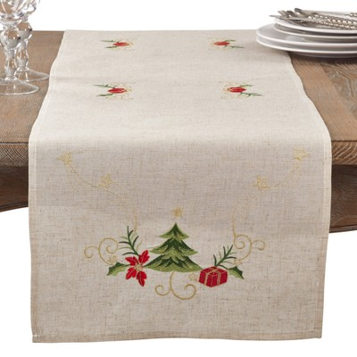 Natural Tree Table Runner - Saro Lifestyle