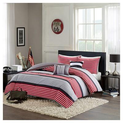 Blain Comforter Set (Full/Queen)5pc - Red