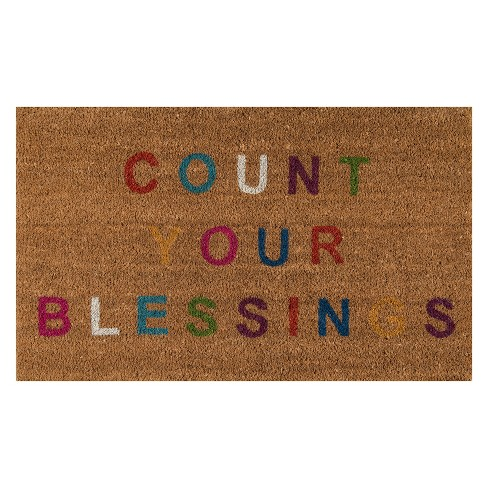 Aloha Count Your Blessings Coir Doormat - Novogratz by Momeni - image 1 of 4