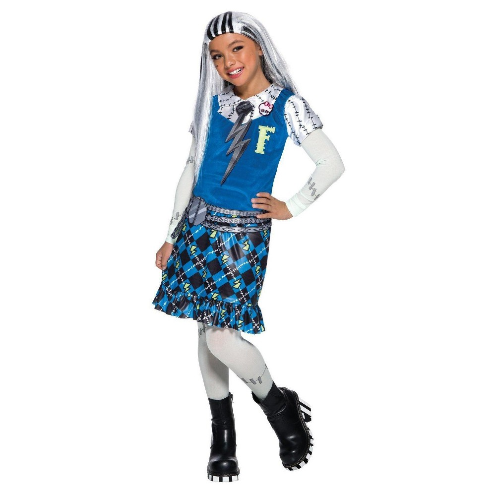 Girls Monster High Frankie Stein Costume Large, Multicolored