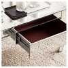 Darla Contemporary Mirrored Rectangular Cocktail Table - Mirrored - Aiden Lane - image 3 of 4