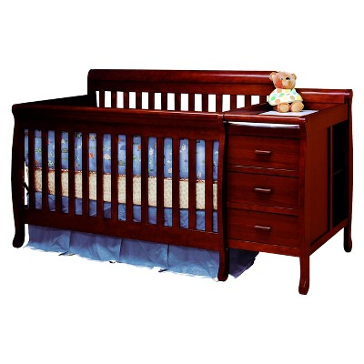 Mikaila Milano 3-in-1 Crib and Changer Combo - Cherry