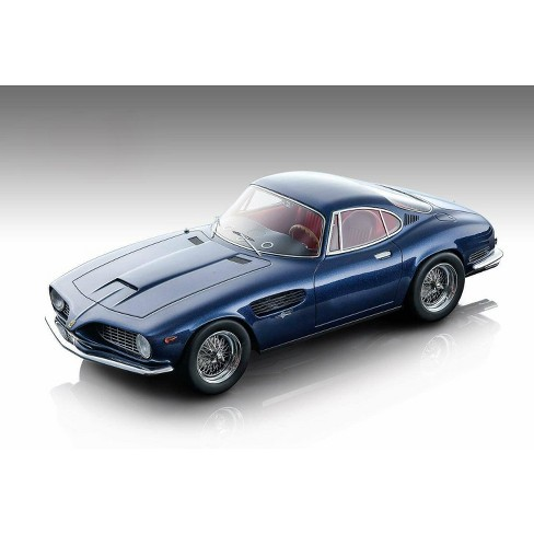 1962 Ferrari 250 GT SWB Bertone Dark Blue Metallic w/Red Interior Mythos Series Ltd Ed 100 pcs 1/18 Model Car Tecnomodel - image 1 of 3