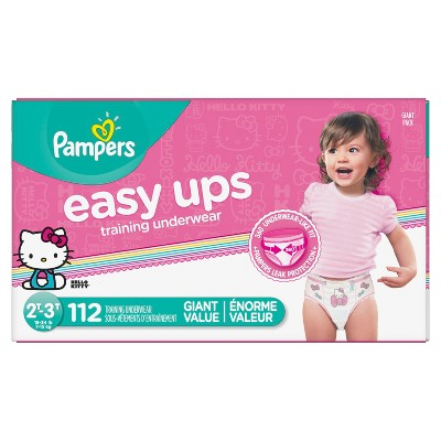 Pampers Easy Ups Girls Training Pants Giant Pack 2T-3T (112ct)