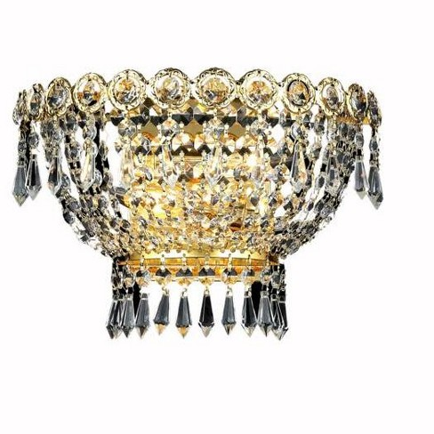 Elegant Lighting 1900W12G Century 2-Light Crystal Wall Sconce, Finished in Gold - image 1 of 1