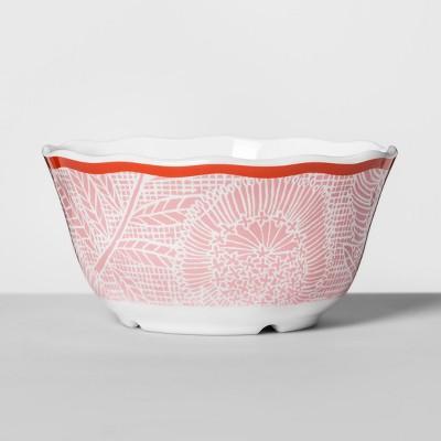 Melamine Bowl 24oz Pink/Red Floral - Opalhouse™