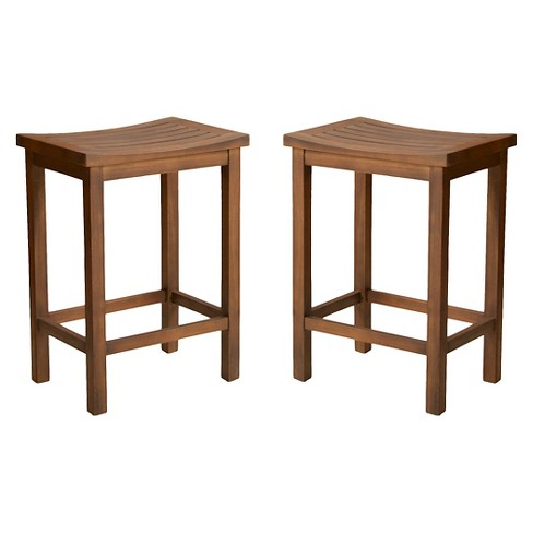 "Easton Slat 24"" Counter Stool Mahogany (Set of 2) - Christopher Knight Home - image 1 of 4"