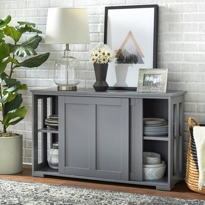 Pacific Storage Unit with Wood Charcoal Gray - Buylateral