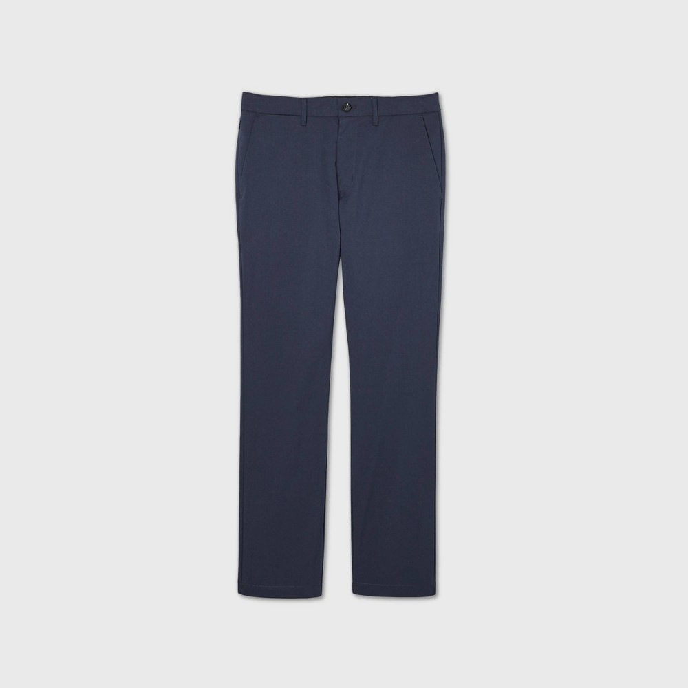 Men 39 S Slim Straight Fit Hennepin Tech Chino Pants Goodfellow 38 Co 8482 Blue 36x30