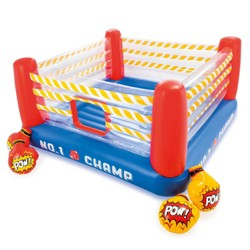 Intex Inflatable Jump-O-Lene 89 Inch Play Boxing Ring Bouncer For Kids Ages 5 to 7