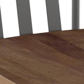 Medium Brown & Glossy Grey Metal