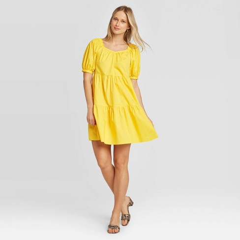 Women's Puff Short Sleeve Dress - Who What Wear™ - image 1 of 3