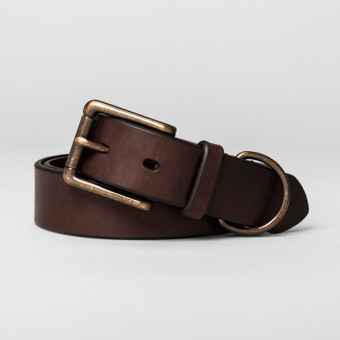 Men's 32mm Overbevel Leather D - Ring Belt - Goodfellow & Co™ - image 1 of 1