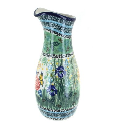 Blue Rose Polish Pottery Teresa Water Carafe