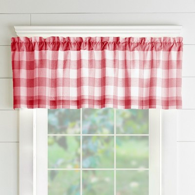 "Farmhouse Living Buffalo Check Window Valance - 60"" x 15"" - Elrene Home Fashions"