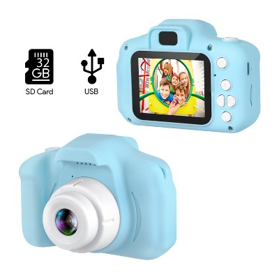 """Dartwood Digital Camera for Kids and Children - 2"""" Color Display Screen, 1080p 3-Megapixels, Micro-SD Card Slot (32GB SD Card Included)"""