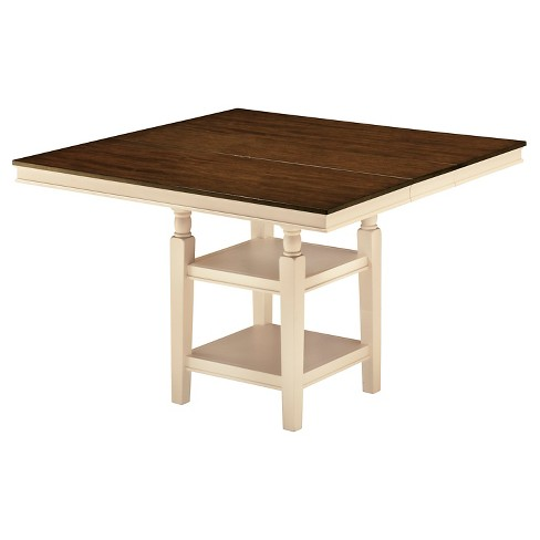 Whitesburg Square Dining Room Counter Extendable Table Wood/Brown/Cottage White - Signature Design by Ashley - image 1 of 1