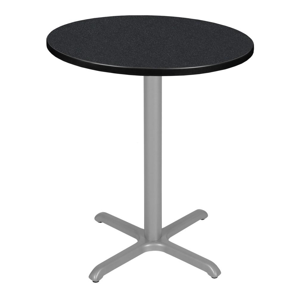 36 Via Cafe High Round X - Base Table Carbon/Gray (Black/Gray) - Regency