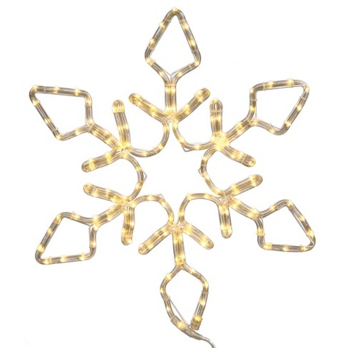"Vickerman® 36"" Diamond Snowflake Christmas Ornament with 208 Pure White LED Lights - image 1 of 1"