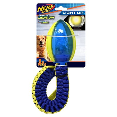 NERF Rope Snake Light Up Head New Braid Dog Toy - Blue & Green