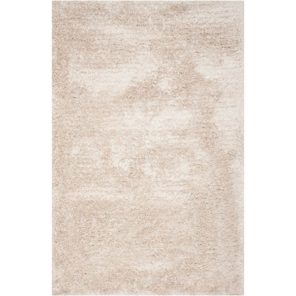 5'X8' Solid Tufted Area Rug Champagne/Light Gray (Beige/Light Gray) - Safavieh