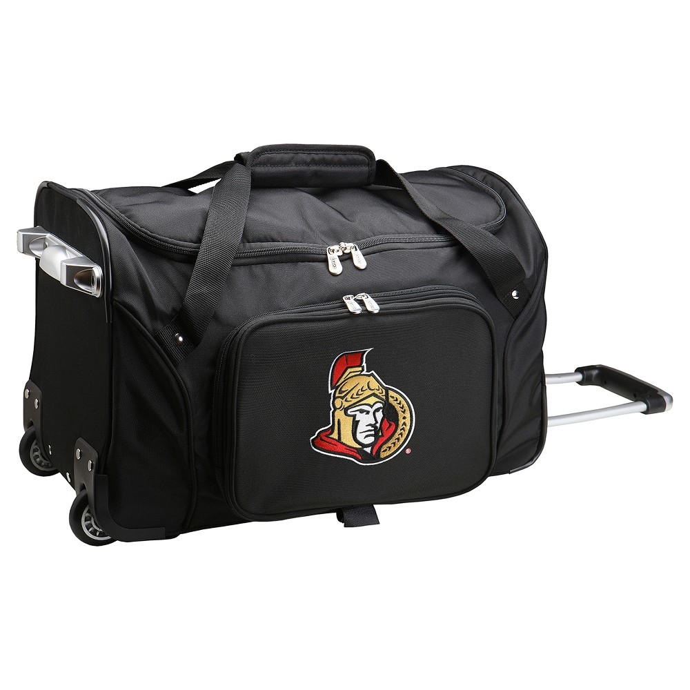NHL Mojo Ottawa Senators 22 Rolling Duffel Bag - Black