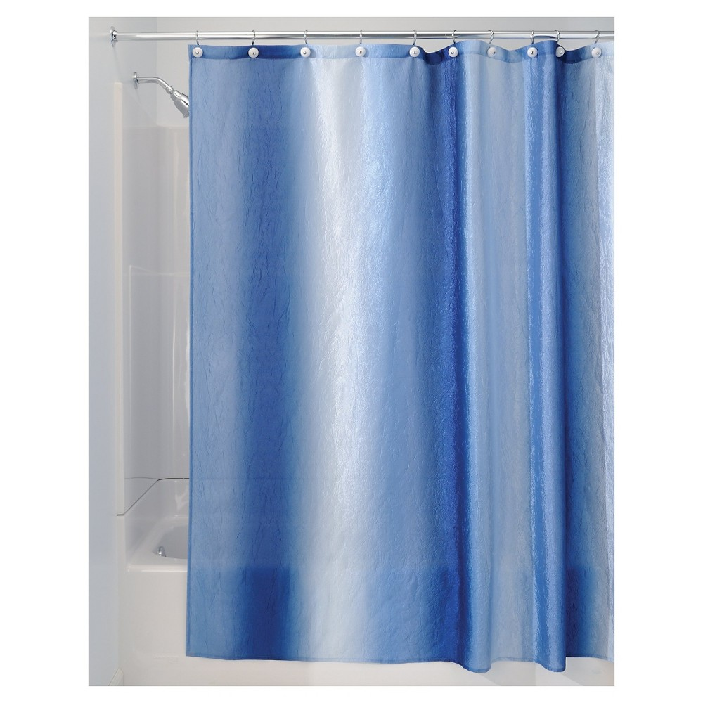 InterDesign Ombre Polyester Shower Curtain, Blue