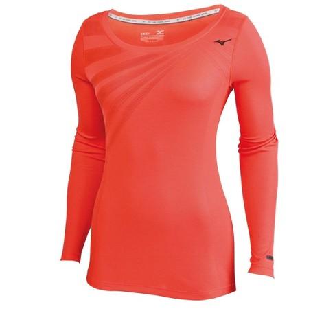 Mizuno Women's Breath Thermo Body Map Long Sleeve Running Shirt - image 1 of 2