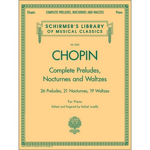 G. Schirmer Complete Preludes, Nocturnes And Waltzes for Piano By Chopin - image 1 of 1