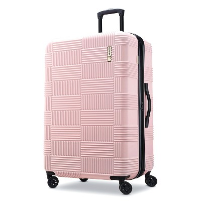 American Tourister 28  Checkered Hardside Suitcase - Pink