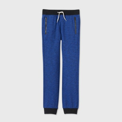 Boys' Cozy French Terry Knit Jogger Pants - Cat & Jack™ Blue
