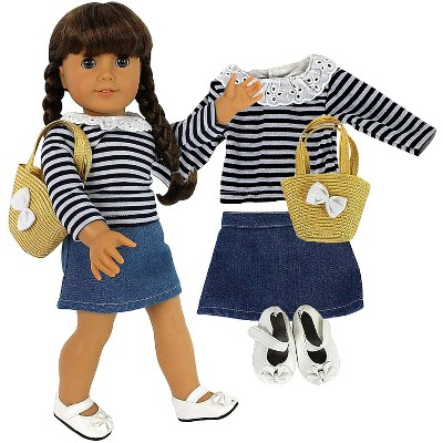 Dress Along Dolly Casual School Day Outfit for American Girl Doll