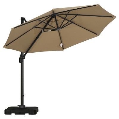 Durango 9.6' Cantilever Canopy Sunshade with Base - Taupe - Christopher Knight Home