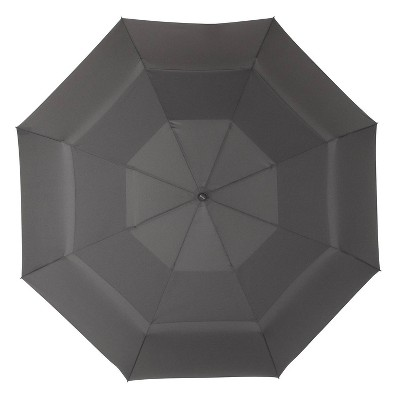 Cirra by ShedRain Jumbo Air Vent Auto Open Close Compact Umbrella - Charcoal