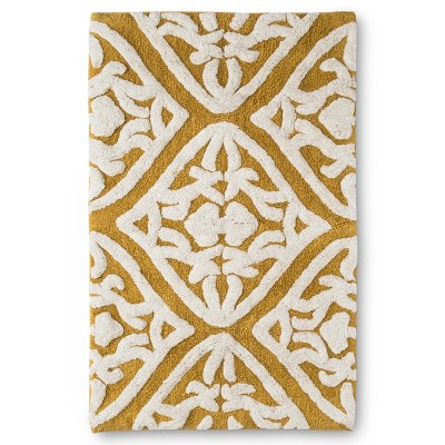 20 x32  Tufted Ogee Floral Bath Rug Yellow - Threshold™