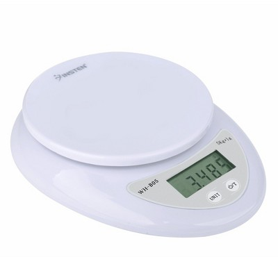 Insten Digital Food Weight Kitchen Weighing Scale in Grams & Ounces - 1g/0.1oz Precise with 11lb (5kg) Capacity, White