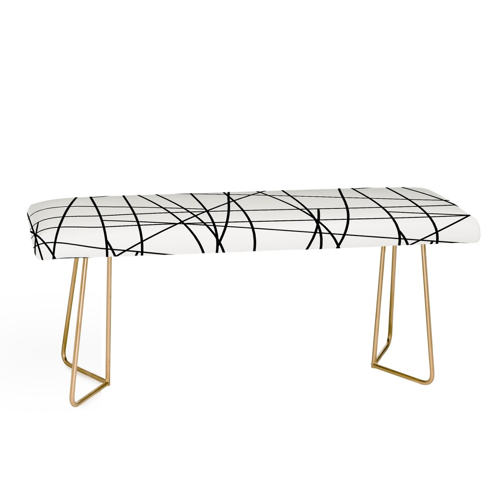 Gabriela Fuente Architecture Bench Black and Gold - Deny Designs