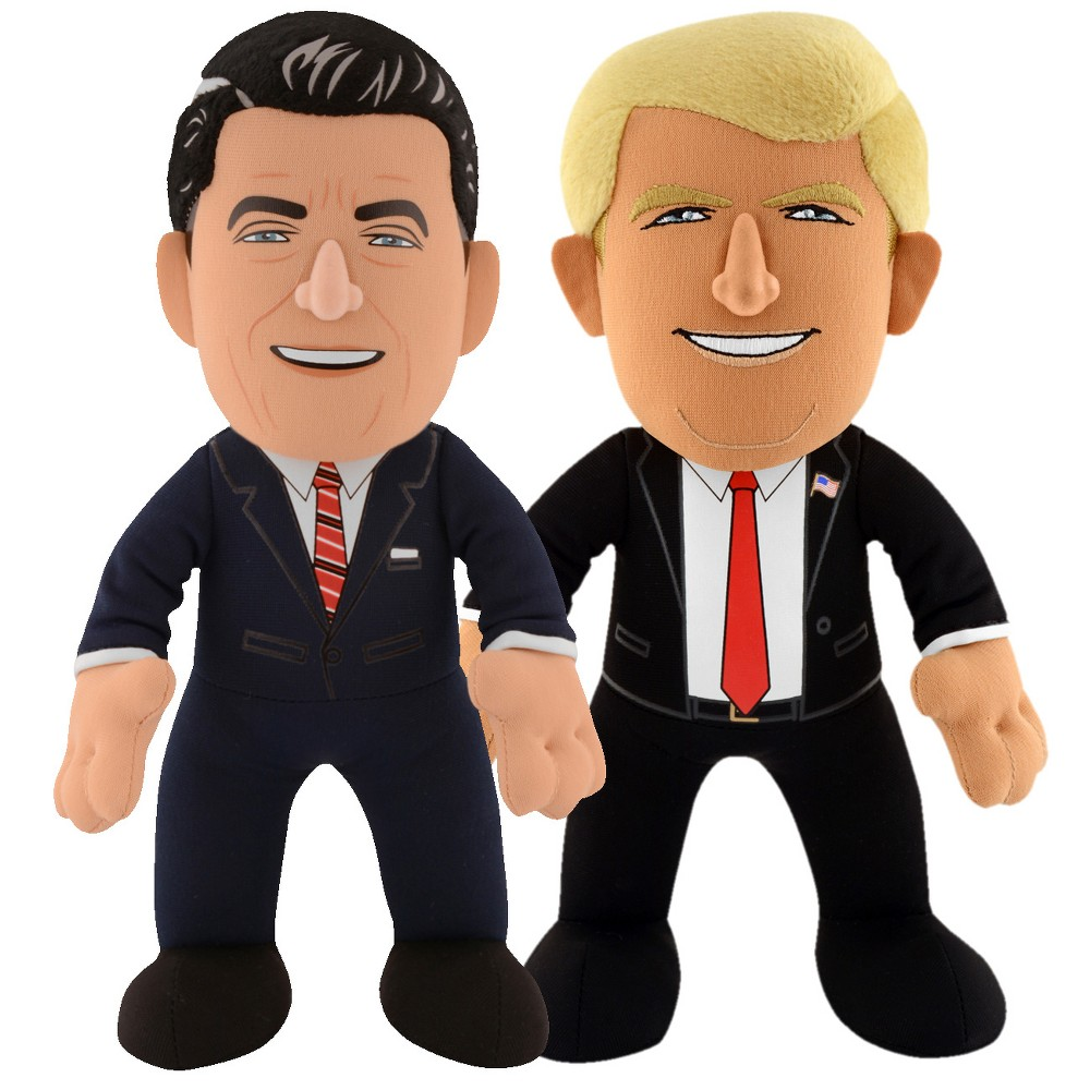 "Image of ""USA President Dynamic Duo 10"""" Plush - Donald Trump & Ronald Reagan"""