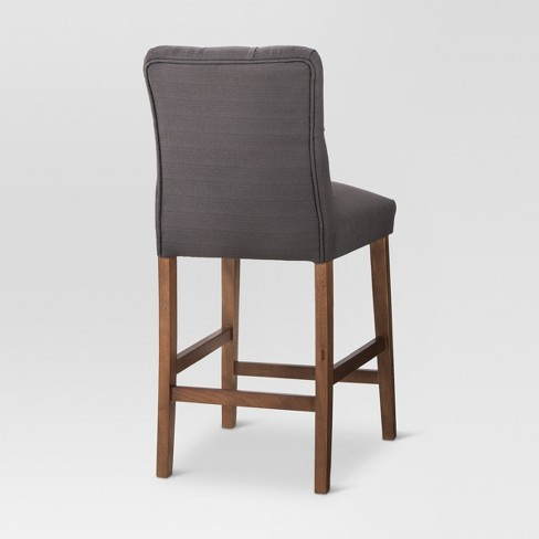 Brookline Tufted 25 Counter Stool Chestnut Wood Finish