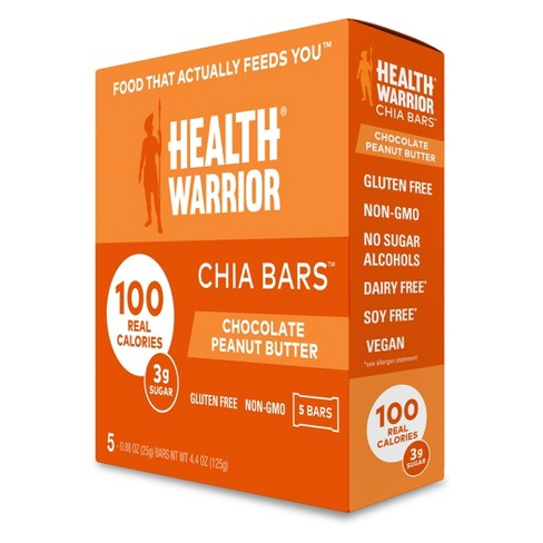 Health Warrior Chia Bars Chocolate Peanut Butter - 4.4oz - image 1 of 1