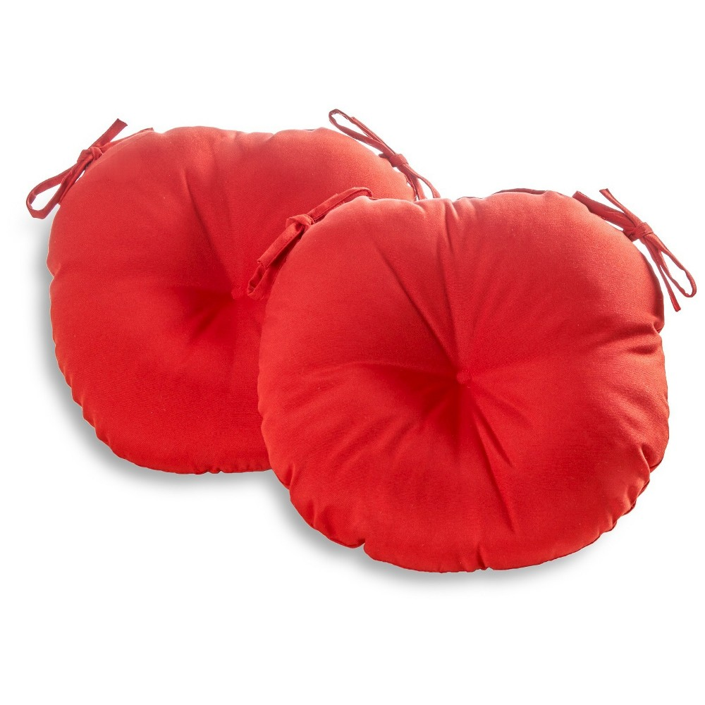 "Image of ""Greendale Home Fashions Set of 2 Outdoor 18"""" Bistro Chair Cushion - Salsa, Red"""