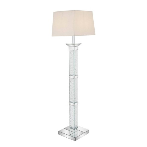 """65"""" x 12"""" Glam Modern Mirror Crystal and Wood Floor Lamp - Olivia & May - image 1 of 3"""
