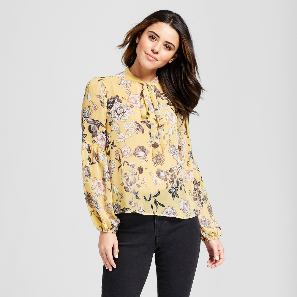 Women's Cropped Pullover Sweater - Xhilaration Mustard (Yellow) S