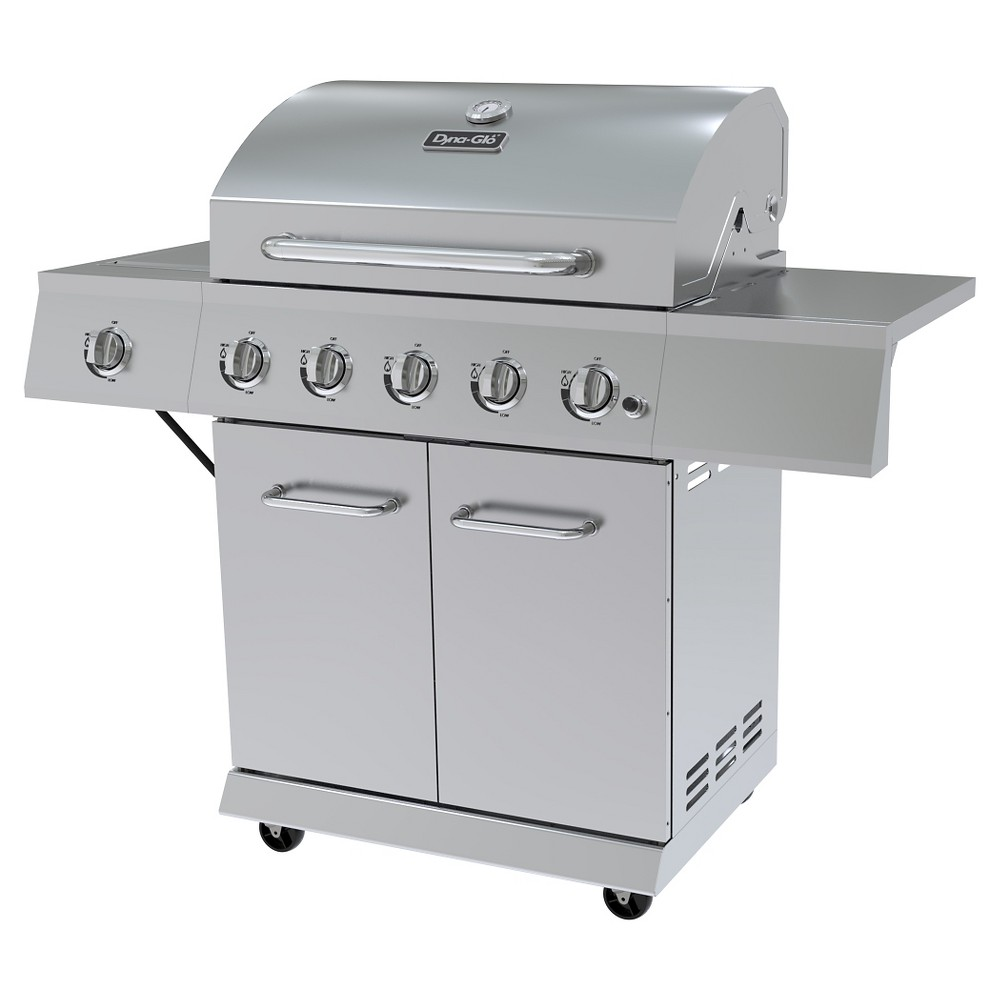 Dyna-Glo 5 Burner Stainless Steel LP Gas Grill – Silver 51098652