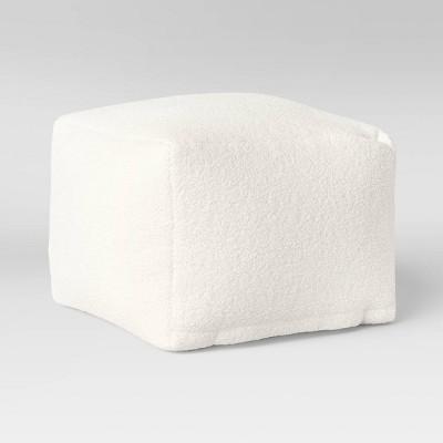 Sherpa Pouf Cream - Room Essentials™