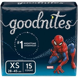 GoodNites Boys' NightTime Underwear - Size XS (15ct)