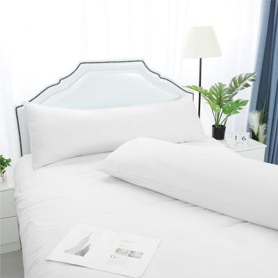 "2 Pcs 20""x72"" 1800 Series Soft Brushed Microfiber Pillow Cover Snow White - PiccoCasa"