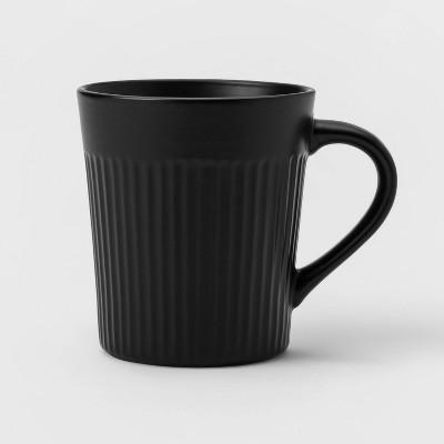 11.8oz Stoneware Harrison Mug Black - Threshold™
