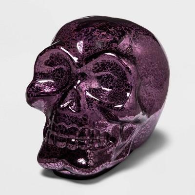 Large Purple Mercury Glass Halloween Skull - Hyde & EEK! Boutique™